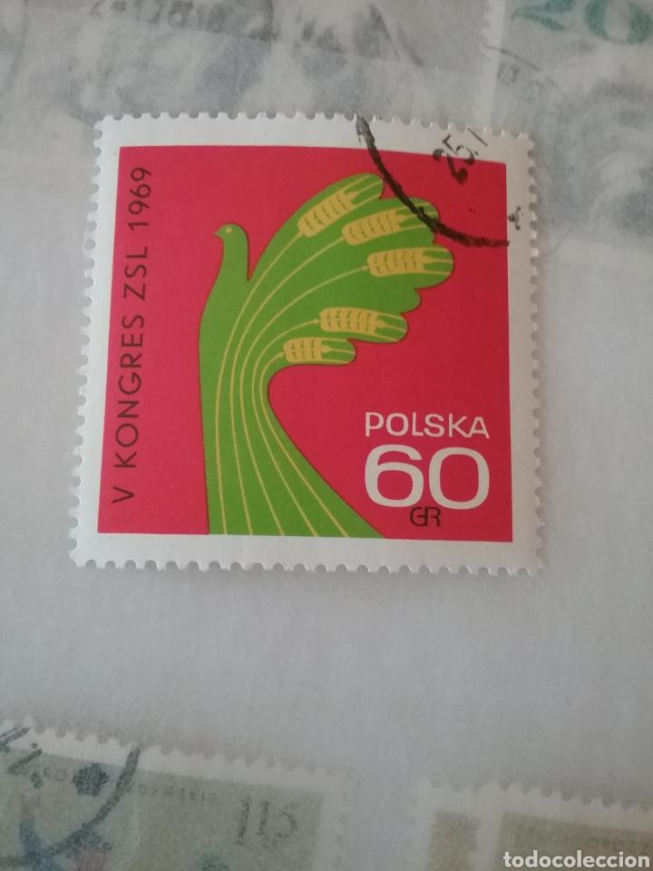 SELLOS R. POLONIA (POLSKA) MTDOS/1969/5 CONGRESO PARTIDO UNION DE CAMPESINOS/MANO/TRIGO/CEREALES/COM (Sellos - Temáticas - Historia)