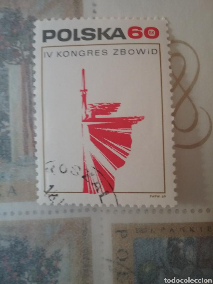 SELLOS R. POLONIA (POLSKA) MTDOS/1969/4 CONGRESO LUCHADORES X LIBERTAD POLONIA/MUEJER/ESCULTURA/ESPA (Sellos - Temáticas - Historia)