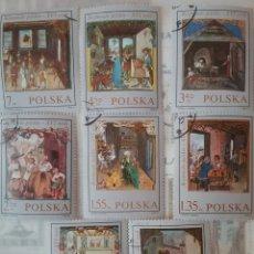 Sellos: SELLOS R. POLONIA (POLSKA) MTDOS/1969/OFICIOS SIGLOXVI/SASTRE/CARPINTERO/ORFEBRE/ZAPATERO/PANADERO/P. Lote 150310160