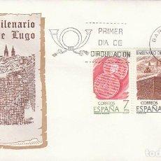 Sellos: EDIFIL 2356/8, BIMILENARIO DE LUGO, PRIMER DIA DE 22-9-1976 SOBRE DEL SFC. Lote 150409718
