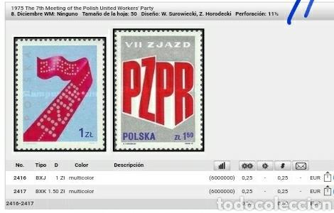 Sellos: Sellos R. Polonia (Polska) mtdos/1976/7 encuentro parrido union trabajadores polacos/emblema/simbol/ - Foto 2 - 150609400