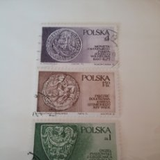 Sellos: SELLOS R. POLONIA NUEVOS/1975/DINASTIA PIAST, SILESIA/MONEDAS/CABALLO/AGUILA/ESCUDOS ARMAS/HERALDICO. Lote 150640817