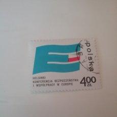 Sellos: SELLOS R. POLONIA (POLSKA) MTDOS/1975/CONFERENCIA SOBRE SEGURIDAD Y COOPERACION EUROPA/EMBLEMA/BANDE. Lote 150642240