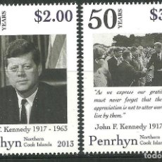 Sellos: PENRHYN 2013 SC 519/20 *** 50º ANIVERSARIO DE LA MUERTE DE JHON FITGERAL KENNEDY. Lote 150954814