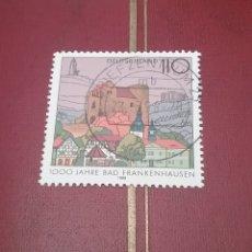 Sellos: SELLOS ALEMANIA, R. FEDERAL MTDO/1998/MILENARIO FUNDACION CIUDAD FRANKENHAUSEN/CASTILLO/ALDEA. Lote 155920428