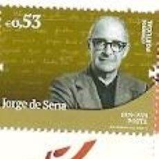 Sellos: PORTUGAL ** & NOMBRES DE LA HISTORIA Y CULTURA PORTUGUESA, JORGE DE SENA, POETA 2019 (3422). Lote 156633690