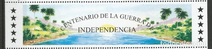 Sellos: CUBA - CENTENARIO DE LA GUERRA DE INDEPENDENCIA - BLOQUE - PLIEGO DE 1998 - Foto 3 - 156664062