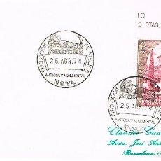 Sellos: AÑO 1974, SARCOFAGO DE PERO CARNEIRO, MATASELLO DE NOYA (LA CORUÑA) ANTIGUA Y MONUMENTAL. Lote 156883042