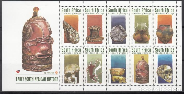 SUDÁFRICA. 1998 YVERT Nº 1003 / 1012, PREHISTORIA SUDAFRICANA. (Sellos - Temáticas - Historia)