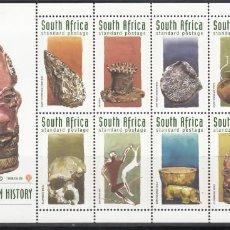 Sellos: SUDÁFRICA. 1998 YVERT Nº 1003 / 1012, PREHISTORIA SUDAFRICANA. . Lote 156920274