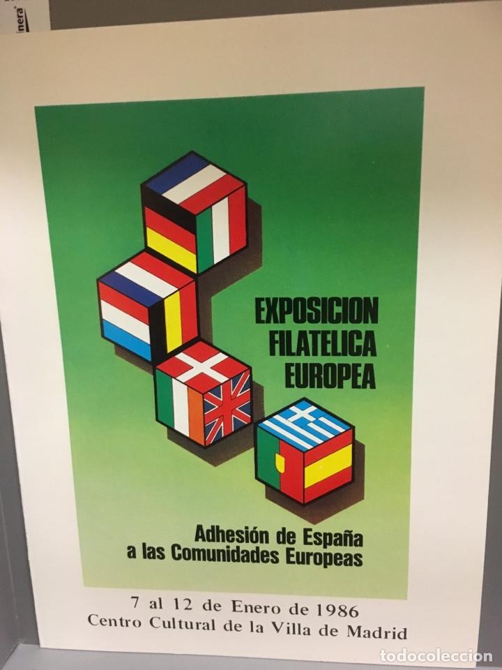 Sellos: Carterita + sobre exposición filatélica europea1986 - Foto 3 - 159704084
