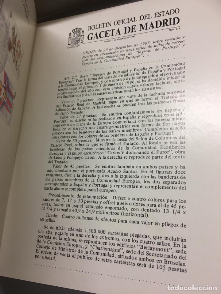 Sellos: Carterita + sobre exposición filatélica europea1986 - Foto 4 - 159704084
