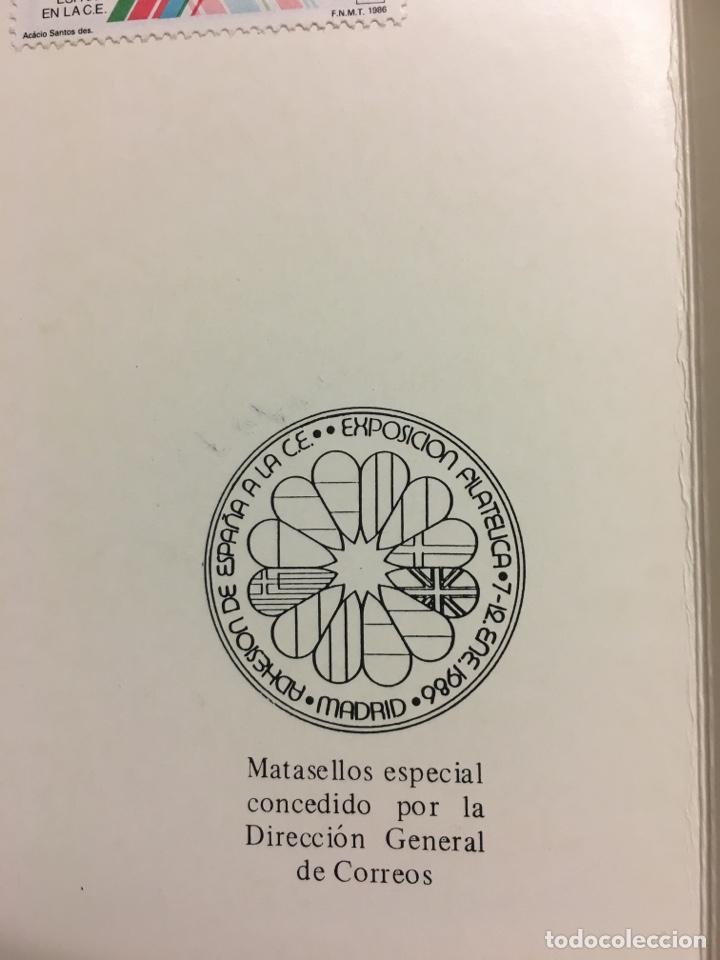 Sellos: Carterita + sobre exposición filatélica europea1986 - Foto 8 - 159704084