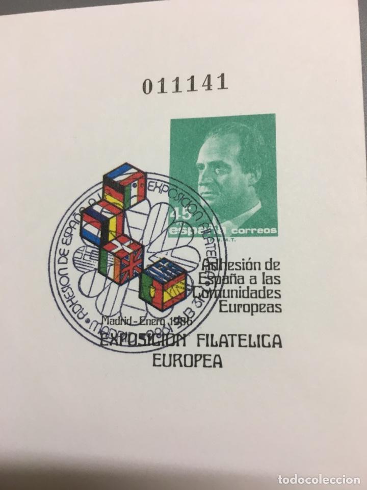 Sellos: Carterita + sobre exposición filatélica europea1986 - Foto 12 - 159704084