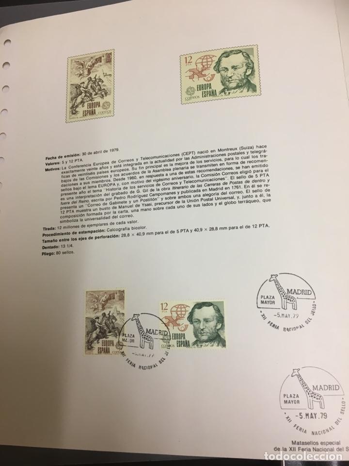 Sellos: 2 sellos hoja EDIFIL Europa 79 historia del correo - Foto 2 - 159706941