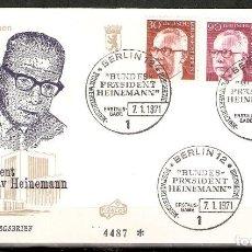 Sellos: ALEMANIA BERLÍN. 1970. FDC. MI 363,368,370. Lote 160699498