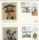 Sellos: EDIFIL 2213/6, HISPANIDAD: ARGENTINA, PRIMER DIA DE 12-10-1974 EN DOS SOBRES DE MUNDO FILATELICO . Lote 160983038