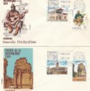 Sellos: EDIFIL 2213/6, HISPANIDAD: ARGENTINA, PRIMER DIA DE 12-10-1974 EN DOS SOBRES DE ALFIL/FLASH . Lote 160983274