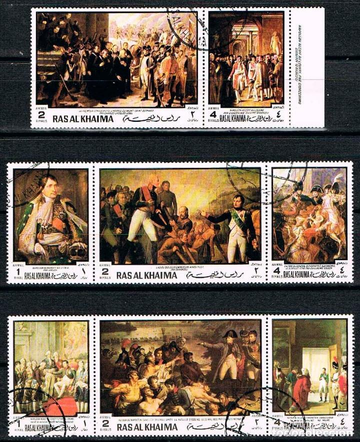 RAS AL KHAIMA Nº 420/27, HISTORIA DE FRANCIA, NAPOLEON ,LUIS XIV DE FRANCIA, USADO (Sellos - Temáticas - Historia)