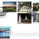 Sellos: PORTUGAL & FDC NUESTRAS CIUDADES, LISBOA. AUTOADHESIVOS 2019 (2420). Lote 161942026