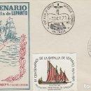 Sellos: EDIFIL 2057, V CENTENARIO DE LA BATALLA DE LEPANTO, PRIMER DIA DE VALENCIA 7-10-1971 RARO EL SOBRE. Lote 163762266