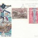 Sellos: EDIFIL 2055/6, IV CENTº LA BATALLA DE LEPANTO PRIMER DIA DE 7-10-1971 ALFIL. Lote 163762602