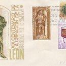 Sellos: EDIFIL 1871/3, XIX CENTENARIO DE LA FUNDACION DE LEON, LEGIO VII GEMINA, PRIMER DIA 15-6-1968 SISO. Lote 167149720
