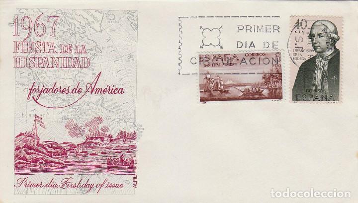 EDIFIL 1819, FRANCISCO DE LA BODEGA, FORJADORES DE AMERICA 1967, PRIMER DIA DE 12-10-1967 ALFIL (Sellos - Temáticas - Historia)
