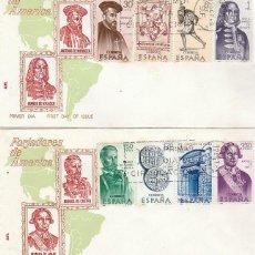Sellos: EDIFIL 1750/7, FORJADORES DE AMERICA, PRIMER DIA DE 12-10-1966, ALFIL. Lote 170093088