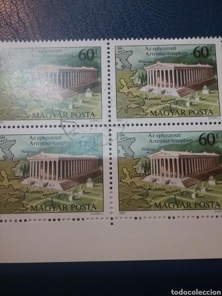 SELLOS DE HUNGRÍA (MAGYAR P) MTDOS/1980/BABILONI/ARTEMIS/ZEU/ALICARNAS/RODAS/ESCULTURAS/ARQUITECTURA (Sellos - Temáticas - Historia)