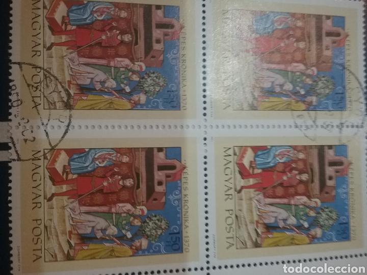 SELLOS DE HUNGRÍA (MAGYAR P.) MTDOS/1971/ESCENAS HISTORIA/REY/GEZA/CASTILLO/NOBLES/CLERO/ARBOL/FLORA (Sellos - Temáticas - Historia)