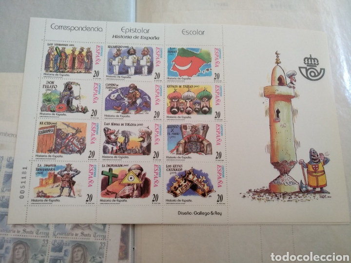 3 MINIPLIEGOS HISTORIA DE ESPAÑA CORRESPONDENCIA EPISTOLAR ESCOLAR DISEÑO GALLEGO & REY (Sellos - Temáticas - Historia)