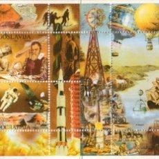 Sellos: SELLOS YUGOSLAVIA 2000 MILLENIUM HISTORIA BARCOS AVIONES. Lote 176397467