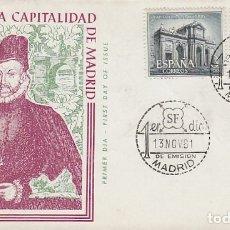 Sellos: EDIFIL Nº 1388 IV CENTENARIO DE LA CAPITALIDAD DE MADRID, PRIMER DIA DE 27-11-1961 ALFIL SERIE CORTA. Lote 179179196