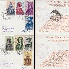 Sellos: EDIFIL 1374/81, FORJADORES DE AMERICA (NUEVA GRANADA) PRIMER DIA 12-10-1961 ALFIL CIRCULADO. Lote 179179365