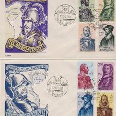 Sellos: EDIFIL 1374/81, FORJADORES DE AMERICA (NUEVA GRANADA) PRIMER DIA 12-10-1961 ALONSO. Lote 179179446