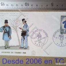 Sellos: TUBAL FRANCIA 1968 SOBRE PRIMER DIA CARTERO RURAL 631 ENVIO 70 CENT 2019 T1. Lote 179249318