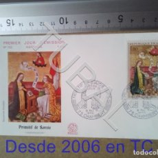 Sellos: TUBAL PRIMITIVO DE SABOYA FRANCIA SOBRE PRIMER DIA 1970 722 ENVIO 70 CENT 2019 T1. Lote 179326575