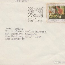 Sellos: PORTUGAL, 25 DE ABRIL DIA DE LA LIBERTAD (REVOLUCION DE LOS CLAVELES), RODILLO DE 6-11-1979. Lote 180254556