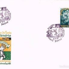 Sellos: PORTUGAL IVERT Nº 1296, 6º CENTENARIO DEL HECHO HEROICO DEL ALCAIDE DE FARIA PRIMER DIA 9-12-1973. Lote 180254913