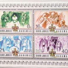 Sellos: BAHAMAS. HB 19 ANIVERSARIO CORONACIÓN REINA ISABEL II. 1977. SELLOS NUEVOS Y NUMERACIÓN YVERT. Lote 182238376