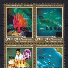 Sellos: 1983 - PENRHYN NORTHERN COOK ISLANDS ISLAS - DÍA DE LA COMMONWEALTH - HISTORIA - NUEVOS MNH**. Lote 182271858