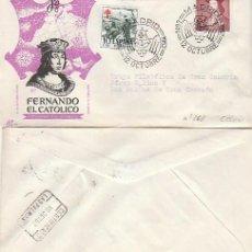 Sellos: EDIFIL 1108, 5º CENTº FERNANDO EL CATOLICO, MATASELLO ZARAGOZA 25-6-1952 PANFILATELICAS CIRCULADO. Lote 187379823