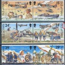 Sellos: ISLA DE MAN 1990 IVERT 467/72 *** 50º ANIVERSARIO DE LA BATALLA DE INGLATERRA - MILITARES. Lote 189760705