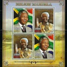 Sellos: MADAGASCAR 2013 HB *** NELSON MANDELA - PERSONAJES. Lote 191705767