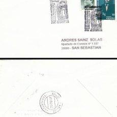 Sellos: AÑO 1997, 6º CENTENARIO JUNTAS GENERALES GUIPUZCOA, MATASELLO SAN SEBASTIAN, SOBRE CIRCULADO. Lote 192362700