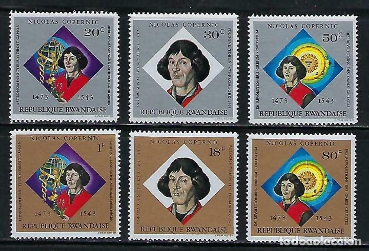 RWANDA 1973 IVERT 566/71 *** 500º ANIVERSARIO NACIMIENTO DE NICOLAS COPERNICO - PERSONAJES (Sellos - Temáticas - Historia)