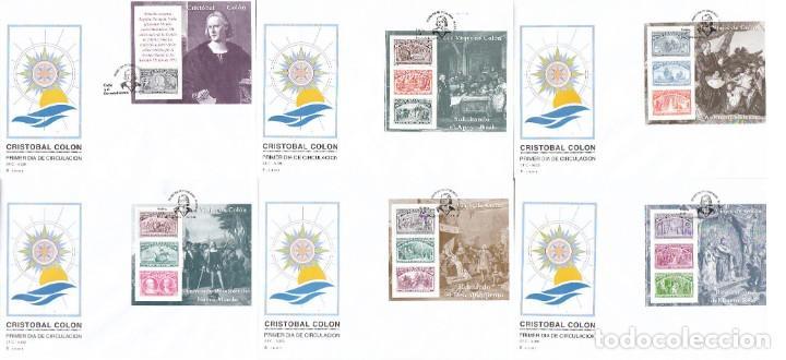 EDIFIL 3204/9, V CENTENARIO DEL DESCUBRIMIENTO DE AMERICA, PRIMER DIA DE 22-5-1992 SFC (Sellos - Temáticas - Historia)
