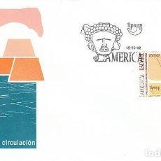 Sellos: EDIFIL 3223, V CENTENARIO DESCUBRIMIENTO AMERICA, CASTILLO POPA SANTA MARIA, PRIMER DIA 15-10-1992. Lote 194066521