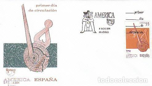 EDIFIL 3141, AMÉRICA-UPAEP, LOS VIAJES DEL DESCUBRIMIENTO, PRIMER DIA DE 4-11-1991 SFC (Sellos - Temáticas - Historia)